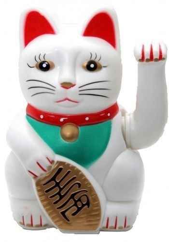 Chinese Feng Shui White Waving Fortune