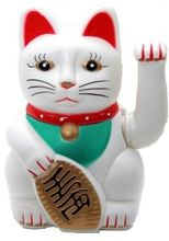 Chinese Feng Shui Golden Waving Fortune/ Lucky Cat 6H Best Gift For Good Luck
