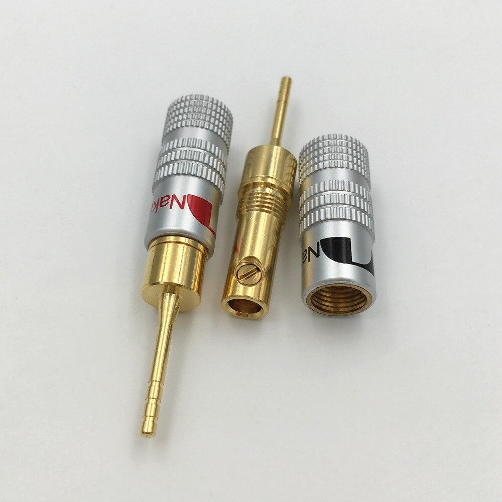 10Pcs High Quality New 24K Gold Nakamichi Speaker Pin 2mm Banana ...