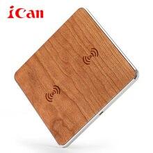 Ican qi inalámbrica cargador de escritorio cargador de teléfono móvil 9 v rápido, placa de carga para samsung s7 s6 edge cargadores de teléfonos inteligentes