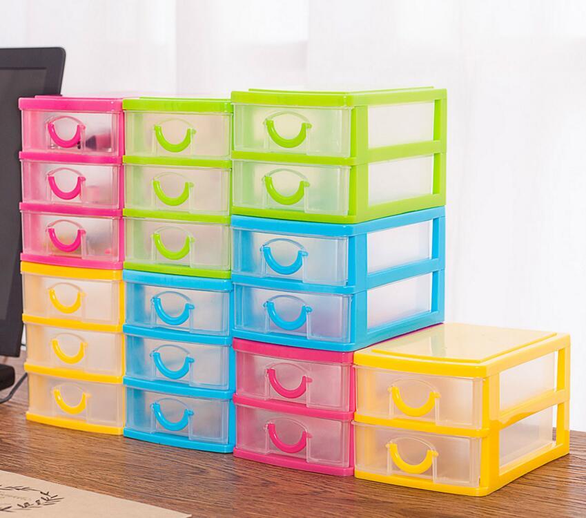2 pcs Transparent Tiroir Cas En Plastique cosmétiques Boîtes De Rangement Organisateur Empilable Boîte Artisanat Case Bijoux Perle Organisateur Conteneur dans Boîtes De Rangement de Maison & Jardin