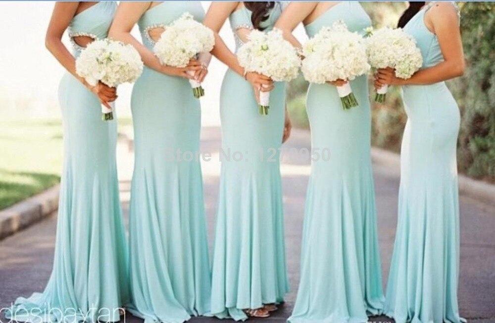 Teal Blue Beach Bridesmaid Dresses