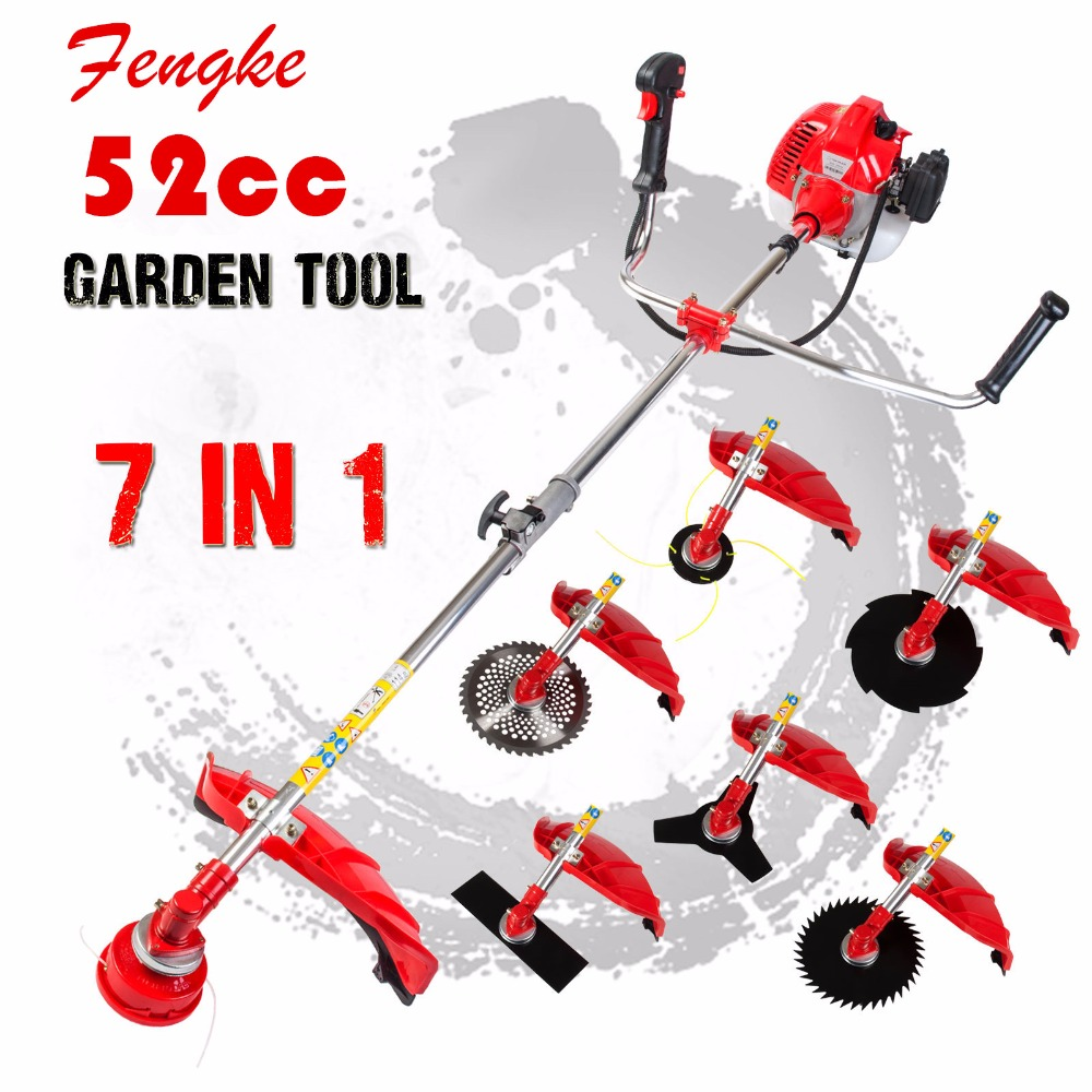 2017 Professional quality 7 in 1 Grass cutter with 52cc Engine Multi Brush cutter Petrol strimmer Tree Pruner factory selling multi powerful 52cc gasoline brush cutter 4 in 1 grass trimmer strimmer cutter garden manual work tool