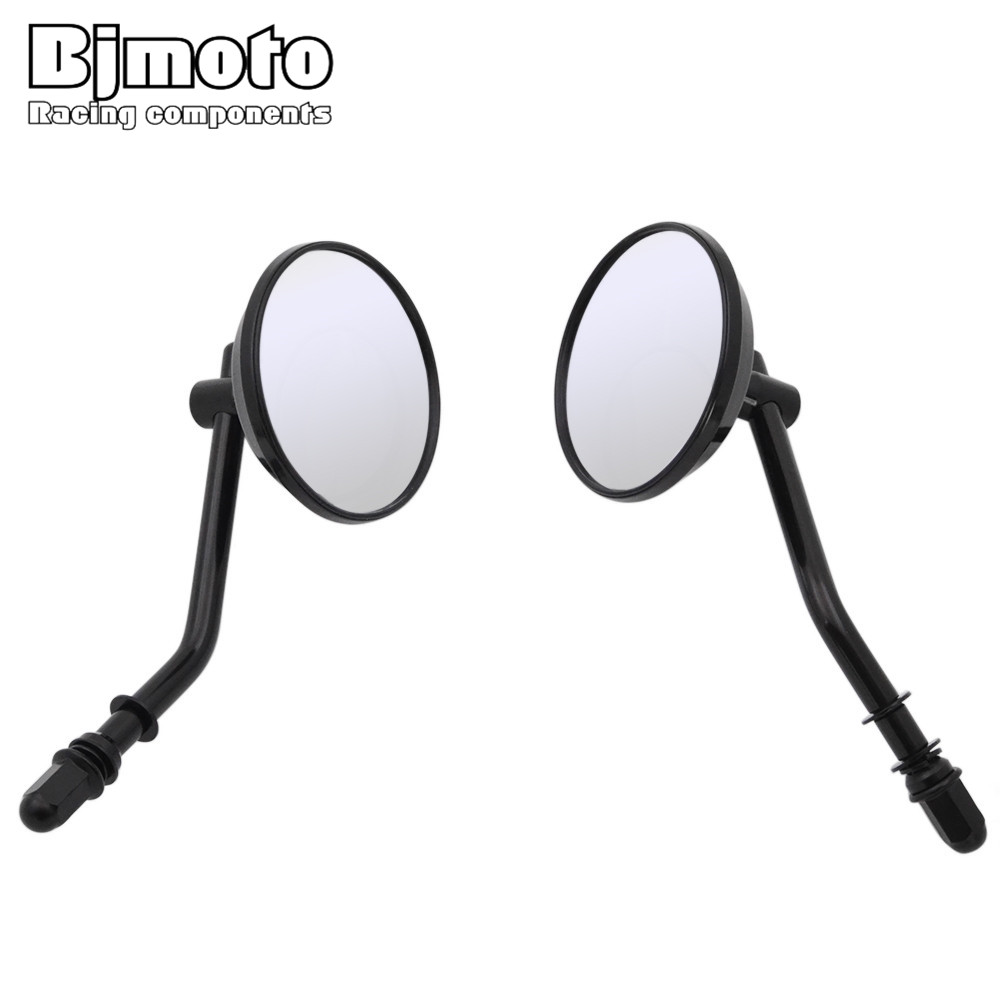 Frames & Fittings Lovely Motorcycle Rear View Mirror Back Mirrors M8 Screw For Harley Dyna Electra Glide Iron 883 Heritage Softail Road Glide Softail Good For Antipyretic And Throat Soother Side Mirrors & Accessories