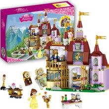 37001 Принцесса Белль Зачарованный замок строительные блоки для девочек друзья дети Модель Marvel Совместимость с Legoe игрушки подарок
