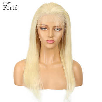 Remy Forte Lace Front Human Hair Wigs Blonde Lace Front Wig 613 Human Hair 14/16/18 Lace Front Wigs 150% Density human hair wigs