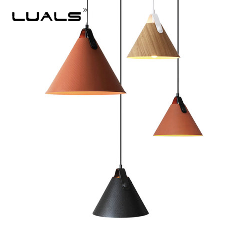 Nordic Raw Wood Pendant Lights Wood Cone Art Pendant Lamp Fashion Pendant Light Indoor LED Hanging Lamps Modern Deco Lighting nordic pendant lights european pendant lighting fixture home indoor lighting american country hanging lamps aluminum drop light