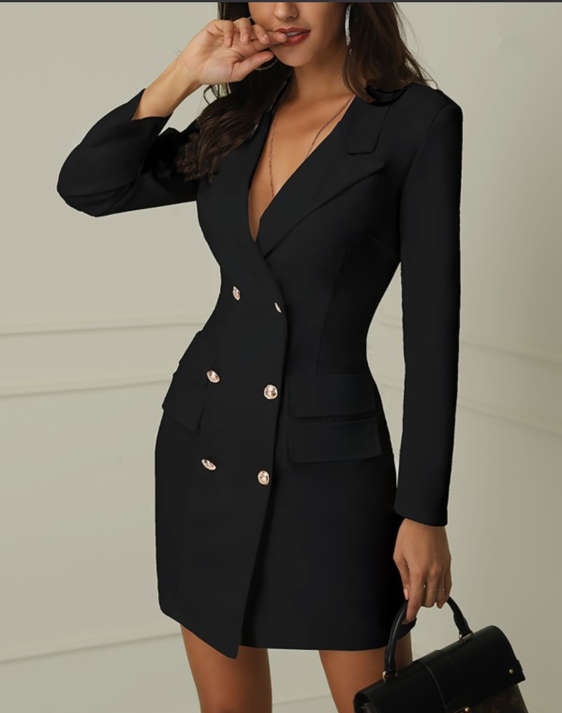 785286100505d Detail Feedback Questions about Winter black white blazer dress ...