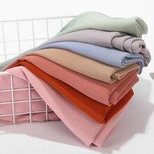 שיפון צעיף טורבן נשים מוצק צבע בועה לעטוף הדפסת מוצק צבע צעיף טורבן טבעי קמט מטפחת צעיף