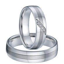 Alliances love couple rings for women wedding band ring men set titanium stainless steel jewelry ringen anillos mujer hombre