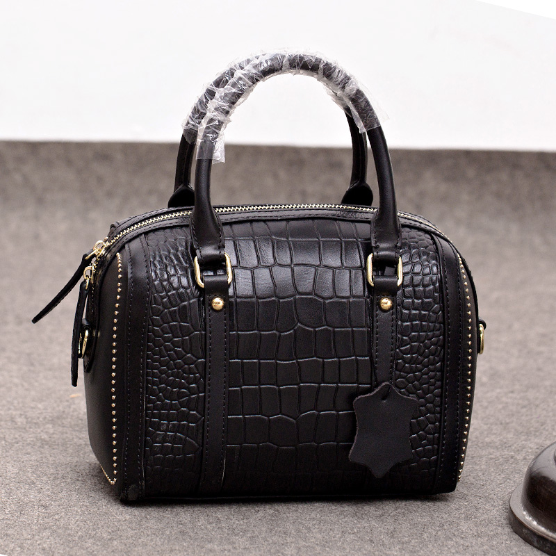 New Arrival Vintage Genuine Leather Women Handbag Fashion Weave Shoulder Bags Small Casual Female CrossBody Bag Retro Tote