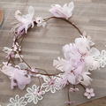 Fio Da Pena romântico Flor Da Coroa para As Mulheres Cor Flores Videira Guirlanda Noiva Dama de Honra Cabeça Acessórios de Noivado SG452