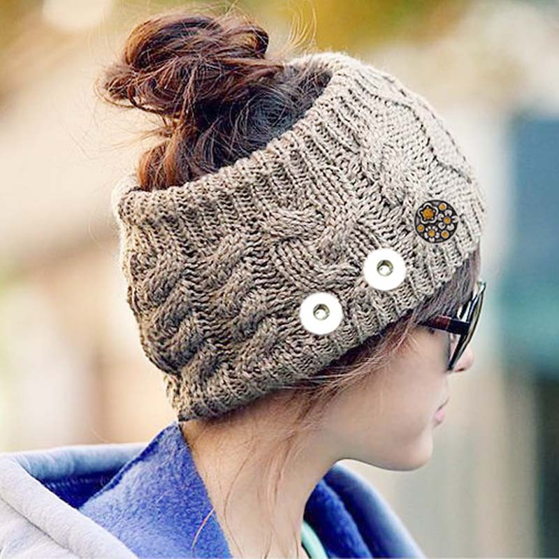 Hot Sale Snap Button Knitted Hat 18 Charms Fashion Jewelry For Women One Direction interchangeable jewelry