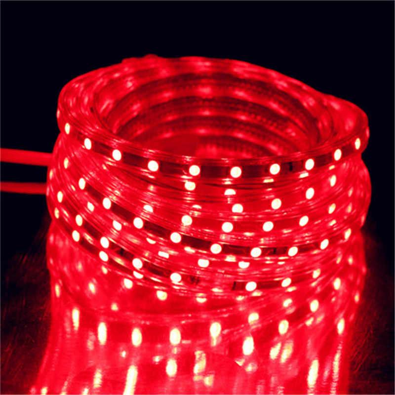 220V LED Lampu Strip 5050 LED Pita Tahan Air IP67 Terang 5630 2835 3528 Pita LED White Warm White merah Hijau Biru