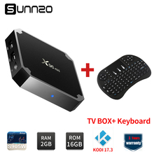 X96mini Smart Android 7.1.2 TV BOX Loaded Kodi 17.3 x96 mini Set-top Box 2GB+16GB eMMC Amlogic S905W Quad Core+Wireless Keyboard