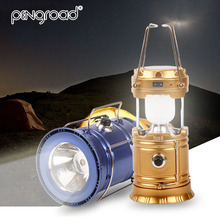 купить Oudoor Portable Rechargeable Solar Lantern Camping Tent LED Hand Lamp Collapsible Emergency Solar Powered Light For Hiking PD012 дешево