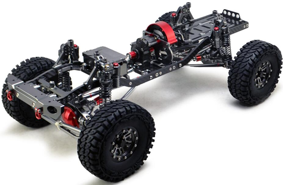CNC Aluminum Metal and Carbon Frame for RC Car 1/10 AXIAL SCX10 Chassis 313mm Wheelbase Vehicle Crawler Cars Parts d1rc drr 01 1 10 rear drive drift car vehicle carbon fiber chassis car accessories parts s128411