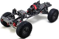 CNC Aluminum Metal and Carbon Frame for RC Car 1/10 AXIAL SCX10 Chassis 313mm Wheelbase Vehicle Crawler Cars Parts
