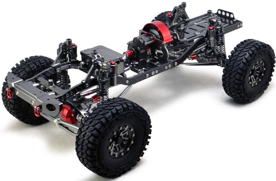 CNC en aluminium métal et cadre en carbone pour voiture RC 1/10 AXIAL SCX10 châssis 313mm empattement véhicule chenilles voitures pièces