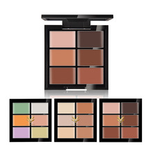 Brand HUAMIANLI 6 Color Concealer Hide Blemish Acne Makeup Face Contour Palette Waterproof Highlighter Cream 3D Face Cosmetics