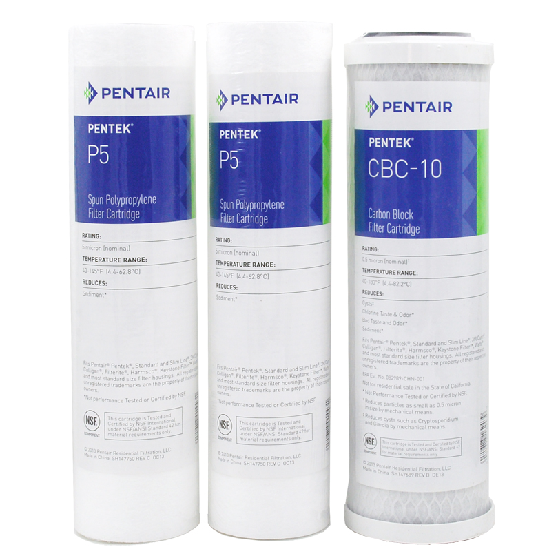 Coronwater Replacement Water Filter Cartridge Kits P5 CBC-10 for 5-stage Reverse Osmosis System 5 stage reverse osmosis system replacement filters 50gpd csm membrane element pack of 2