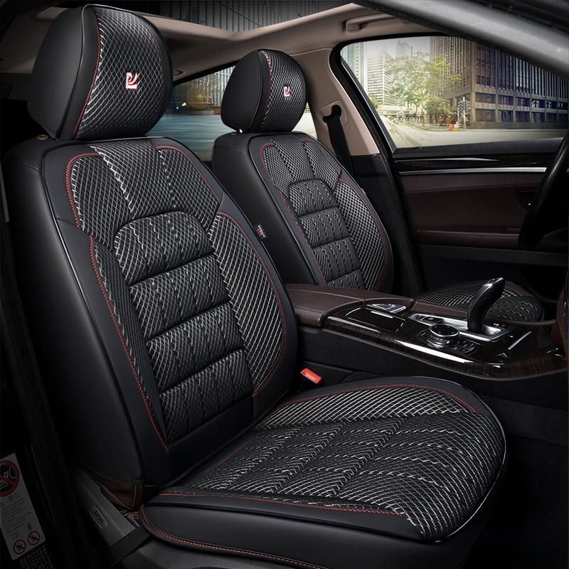 3D maille texturé charbon de bambou santé pad, couverture de siège de voiture, styling de voiture Pour Toyota Camry 40 RAV4 Verso FJ Land Cruiser LC 200 P