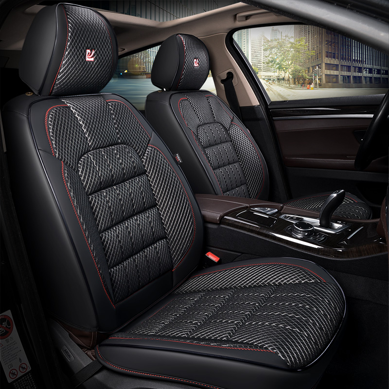 3d сетки текстурированная бамбуковый уголь здоровья площадки, крышка места автомобиля, тюнинг автомобилей для Toyota Camry 40 RAV4 Verso FJ Land Cruiser LC 200 P