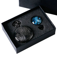 Antique Dr Who Pocket Watch Set Valentine Dotor Who Quartz Watches Gift Set For Women Couple