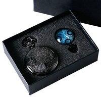Antiguo Reloj De Bolsillo Conjunto de Dr. Who Doctor Who de Cuarzo de San Valentín relojes Set de Regalo Para Las Mujeres Par de Damas Cadena de Reloj en caja