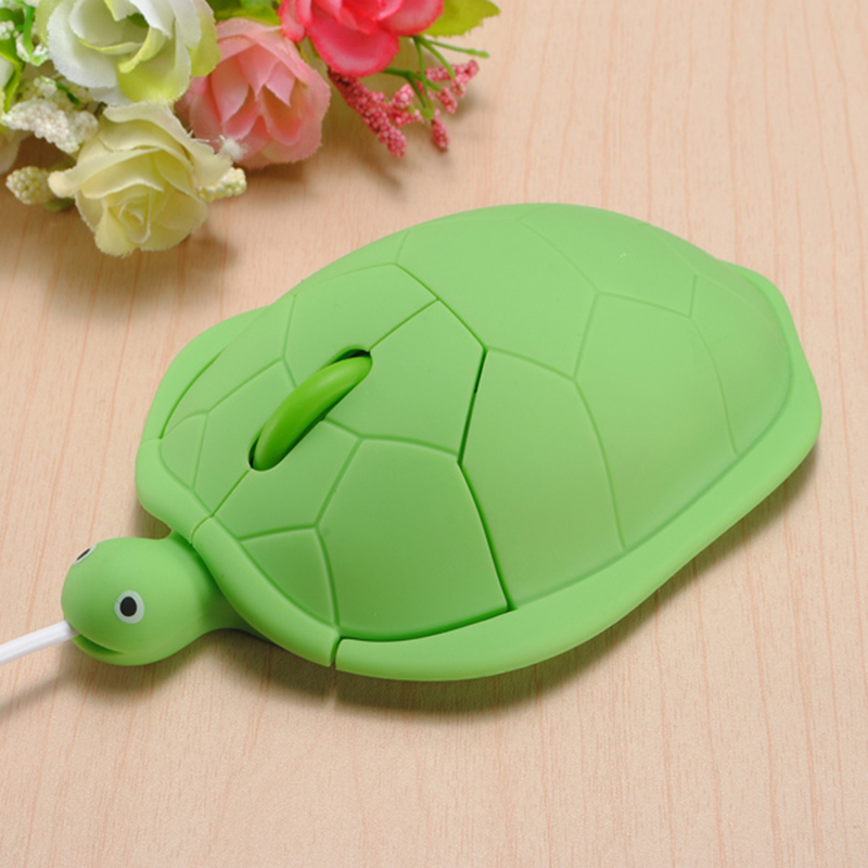 2019 Lovely Gift Kawaii  Turtle Wired Mouse For PC Computer Gamer Mouse Funny Gift Wired Mouse 2.0 Usb 3D Tortoise Animal Mouse