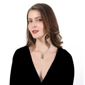 Image 4 - Warme Farben Fine Jewelry naszyjnik dla kobiet naszyjnik w kształcie kropli wody kryształ z Swarovski prezent urodzinowy Collares