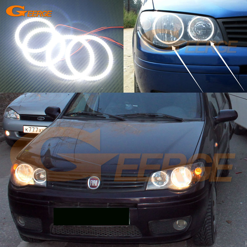 For Fiat Albea 2005 2006 2007 2008 2009 2010 2011 2012 Excellent led Angel Eyes Ultra bright illumination smd led Angel Eyes kit