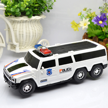 Electric Univeral Wheel Glowing 3D Flashing Musical car Elektrische politie truck Automatic Steering Children Toys