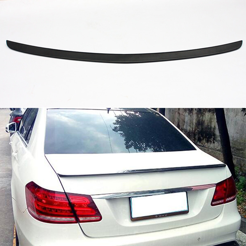 Matt Carbon W212 E63 E200 Modified AMG Style Rear Trunk Luggage Compartment Spoiler Car Wing For Mercedes-Benz W212 2014~2016 mercedes carbon fiber trunk amg style spoiler fit for benz e class w207 2 door 2010 2015 coupe convertible vehicles