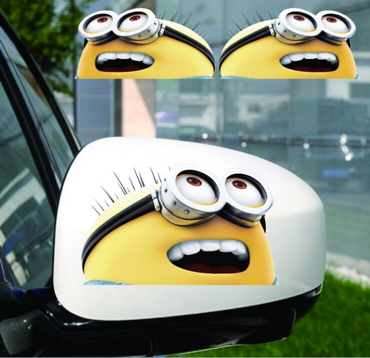 Sticker For Car Picture More Detailed Picture About Small Yellow - Minion custom vinyl decals for car