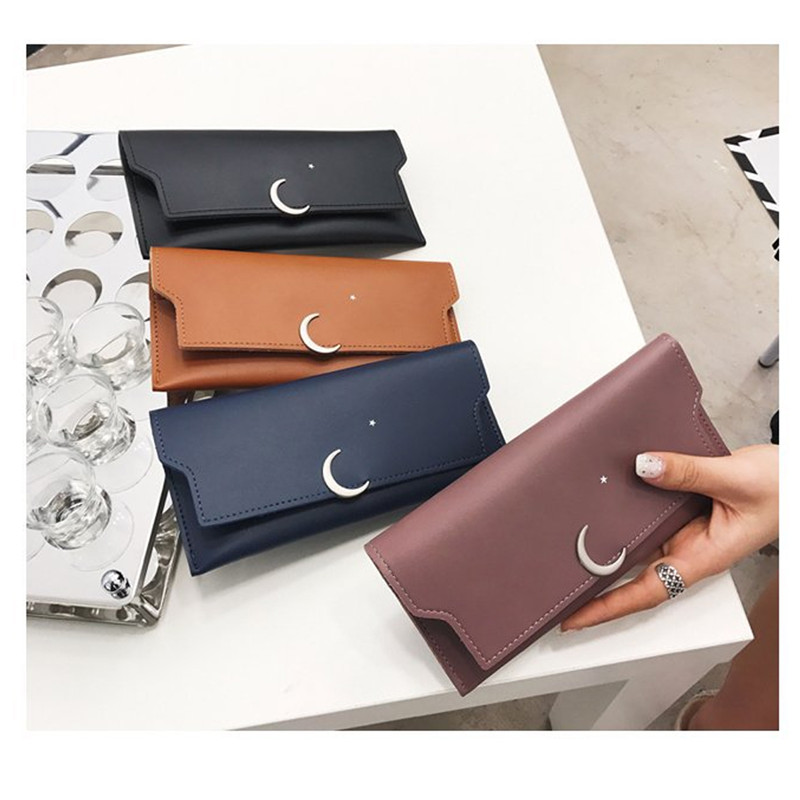 Women Rabbit Love Moon Wallet Real Leather Purse for Phone Girl Men