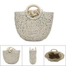 цены Women Handbag Handmade Straw Woven Tote Large Capacity Summer Beach Shoulder Bag Party Shopping New