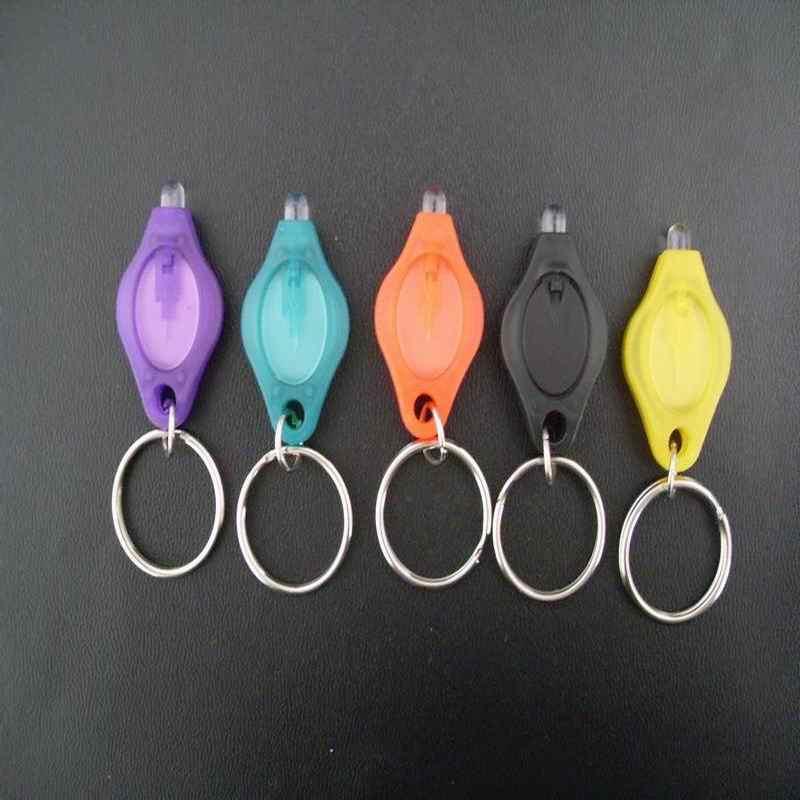 1000 Pc Draagbare Plastic Mini-Led Zaklamp Sleutelhanger Zaklamp Sleutelhanger Voor Outdoor Noodverlichting/Zelfverdediging /Jacht/Rugzak