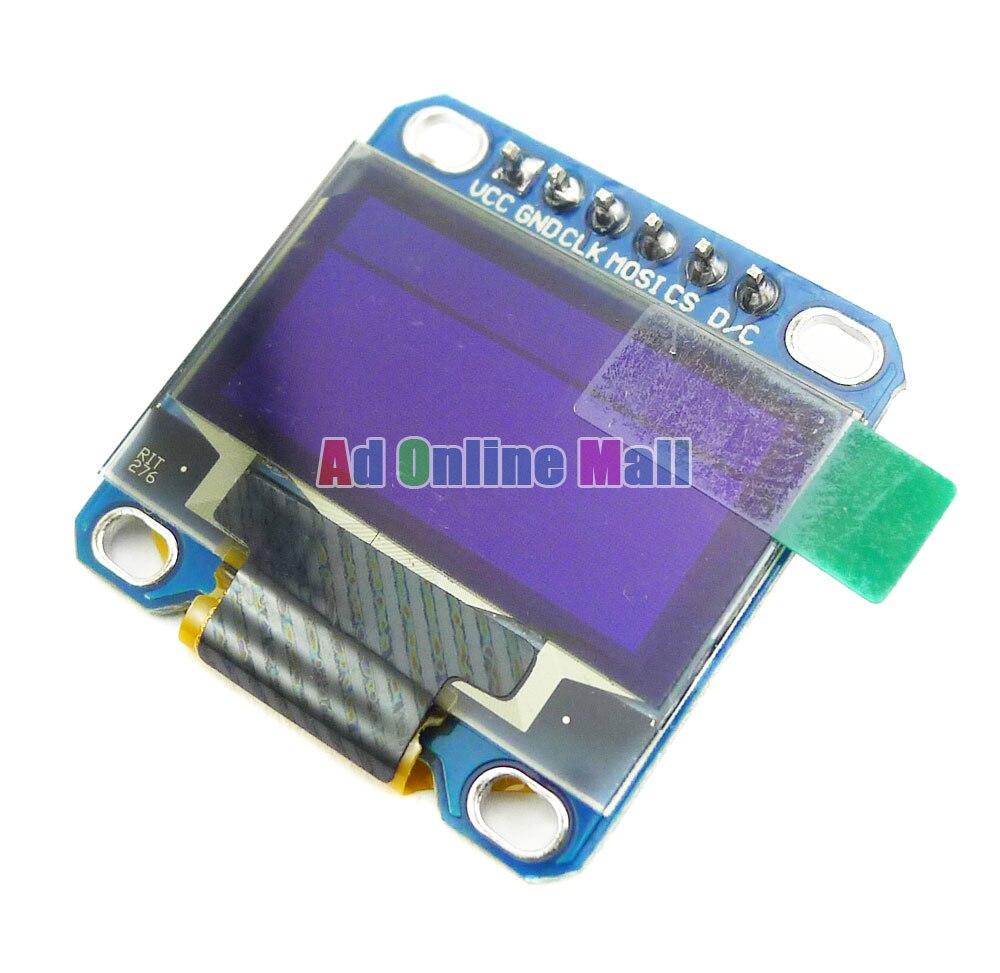 SPI 0.96 Inch White Serial 128*64 OLED LCD LED Display Module for Arduino 51 MSP430 STIM32 CSR