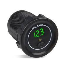 3 цвета 12 24 В Автомобильный светодиодный дисплей Вольтметр