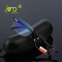 แว่นตาอ่านหนังสือ + 1.00 + 1.50 + 2.00 + 2.50 + 3.00 + 3.50 + 4.00 TR90 Oculos de Leitura Rimless ผู้ชาย Anti reflective