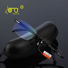 نظارات للقراءة مع حافظة + 1.00 + 1.50 + 2.00 + 2.50 + 3.00 + 3.50 + 4.00 TR90 Oculos de Leitura بدون إطار مضاد للانعكاس