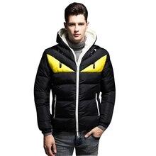 Новый толстый бомбер куртки для мужчин Мода Стенд воротник мужской Slim Fit парка s повседневное Лоскутная хлопковая стеганая парка с ш