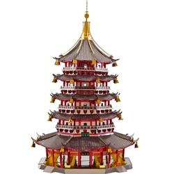 2018 Piececool 3D di Puzzle del Metallo Leifeng Pagoda di costruzione FAI DA TE Taglio Laser Puzzle Jigsaw Modello Per Adulti Bambino Bambini Giocattoli Educativi