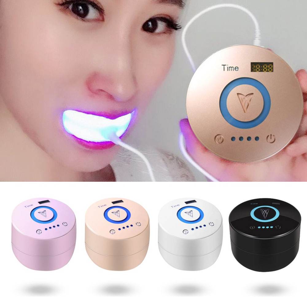 Cold Blue Light Teeth Cleaning Machine Home Use Oral Cleaning Dental Equipment Portable Teeth Smoke Stains Remover Toothbrush l pack 380 led light mirror pick dental oral care kit light blue