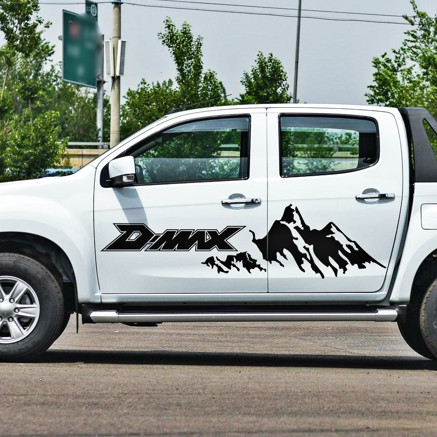 pickup car body stickers side door stripe moutain off road graphic Vinyl sticker for d-max