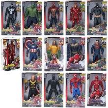 """Супергерои Marvel Мстители танос Черная пантера Капитан Америка Тор Железный человек паук халкбастер Халк фигурка 1"""" 30 см"""