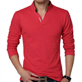 Men Polo Shirt Mens Long Sleeve Solid Polo Shirts Camisa Polos male Casual cotton Plus size 5XL Tops Tees brand clothing