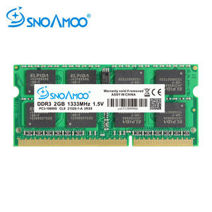 SNOAMOO Memoria Notebook Computer Ddr3 4gb 2rx8 SO-DIMM PC3-10600S 1333/1600-Mhz 204-Pin