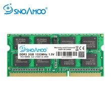 Snoamoo ddr3 4gb 1333/1600 mhz memoria ram, notebook de memória ram, SO-DIMM PC3-10600S pinos 204 v 2rx8 1.5 SO-DIMM, memória do computador garantia,